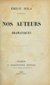 Jean-Yves Guérin (Université Sorbonne nouvelle) : « Zola et le répertoire théâtral contemporain »