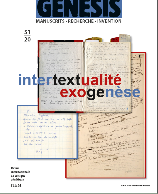 Genesis 51 – Intertextualité – Exogenèse