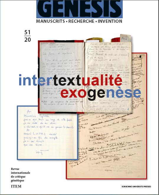 Genesis 51 – Intertextualité – Exogenèse