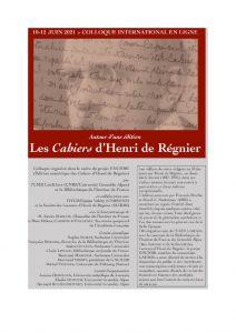 Autour d'une édition: Les Cahiers d'Henri de Régnier