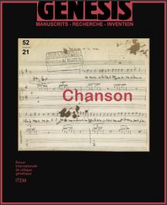 Présentation de «Genesis» n°52 : «Chanson»